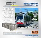 Foto: Straßenbahn ULF – Belvedere © Wiener Linien | Zinner / Foto: Brems-Widerstand 3PQ4 © GINO AG