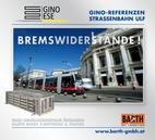 Foto: Straßenbahn ULF – Burgtheater © Wiener Linien | Zinner / Foto: Brems-Widerstand 3PQ4 © GINO AG