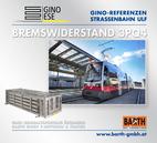 Foto: Straßenbahn ULF – Hauptbahnhof © Wiener Linien | Zinner / Foto: Brems-Widerstand 3PQ4 © GINO AG