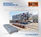 Foto: Straßenbahn ULF vor dem Krankenhaus Nord © Wiener Linien | Helmer /<br />Foto: Brems-Widerstand 3PP5 (GINO AG) © BARTH GMBH E-Motoren & Trafos