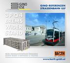 Foto: Straßenbahn ULF – Parlament © Wiener Linien | Zinner / Foto: Brems-Widerstand 3PQ4 © GINO AG