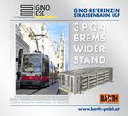 Foto: Straßenbahn ULF – Rathaus © Wiener Linien | Zinner / Foto: Brems-Widerstand 3PQ4 © GINO AG