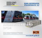 Foto: Straßenbahn ULF – Schottentor © Wiener Linien | Zinner / Foto: Brems-Widerstand 3PQ4 © GINO AG