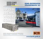 Foto: Straßenbahn ULF – Volkstheater © Wiener Linien | Zinner / Foto: Brems-Widerstand 3PQ4 © GINO AG