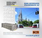 Foto: Straßenbahn ULF – Votivkirche © Wiener Linien | Zinner / Foto: Brems-Widerstand 3PQ4 © GINO AG