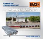 Foto: Straßenbahn ULF vor dem Zentralfriedhof © Wiener Linien | Helmer / Foto: Brems-Widerstand 3PP5 (GINO AG) © BARTH GMBH E-Motoren & Trafos