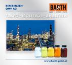 Transformatoren-Isolieröl-Analysen<br />Foto Raffinerie Schwechat © OMV Aktiengesellschaft<br />Foto Ölproben © BARTH GMBH
