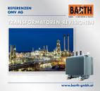 Transformatoren-Revisionen<br />Foto Raffinerie Schwechat © OMV Aktiengesellschaft<br />Foto 630 kVA Transformator © BARTH GMBH