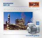 Explosionsgeschützte Elektromotoren<br />Foto Raffinerie Schwechat © OMV Aktiengesellschaft<br />Foto EEx e II Motor © VEM