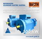 Ausstattung des Schneider-Electric-Prüffeldes mit 2x 500 kW-Motoren