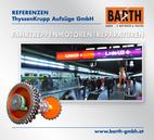 Foto: Hauptwelle einer Fahrtreppenanlage U-Bahn-Station Karlsplatz © BARTH GMBH / Foto: U-Bahn-Station Karlsplatz – Bahnsteig U4 © Wiener Linien | Zinner