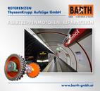 Foto: Hauptwelle einer Fahrtreppenanlage © BARTH GMBH / Foto: U-Bahn-Station Südtiroler Platz – Hauptbahnhof © Wiener Linien | Helmer