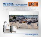 Foto: Hauptwerkstätte Simmering © Wiener Linien | Helmer / Foto: Last-Widerstand (GINO AG) © BARTH GMBH E-Motoren & Trafos